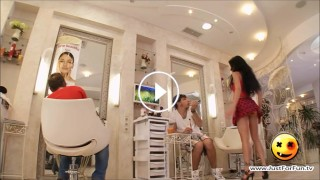 Amazing Hot Girl Hidden Cam Prank in Hair Salon