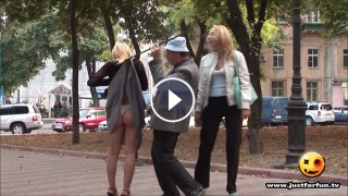 Funny Hot Girls Prank with Blind Man Hidden Cam