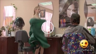 Hot Girl in Hair Salon, Selling Banana and more – Funny Hidden Cam