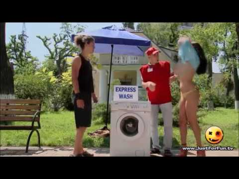 Hot Girl Laundry Prank in the Public
