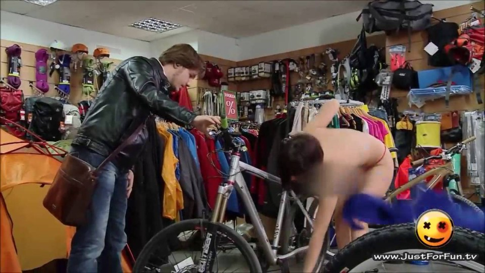Hot Girl Selling Bicycle Loses her Dress – Funny Hidden Cam Pranks