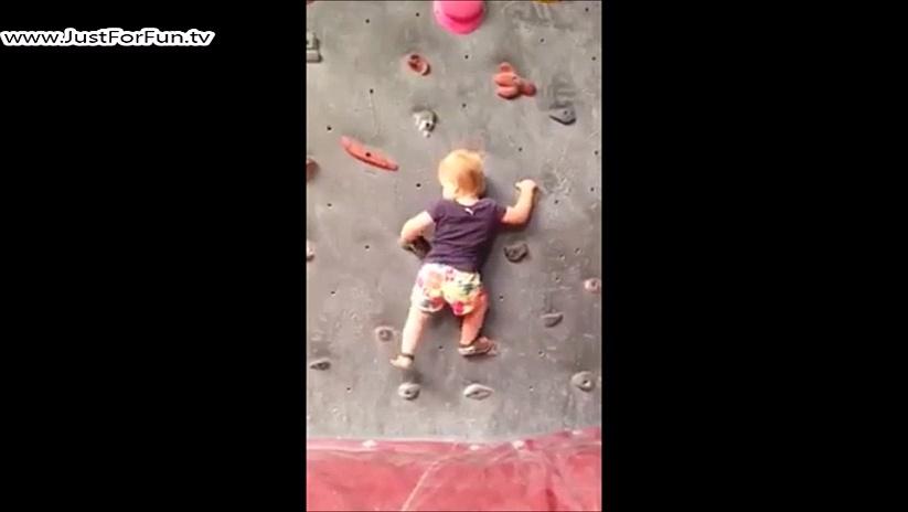 Rock Climbing Cute Baby